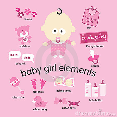 Free Baby Girl Elements Royalty Free Stock Image - 8468776