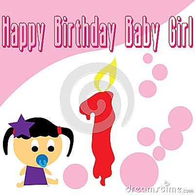 Baby girl first birthday wallpaper