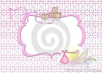 Baby Girl Frame Royalty Free Stock Photo Image 24595605