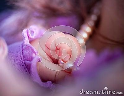 Baby girl hand