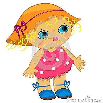 Baby girl icon. cartoon child illustration