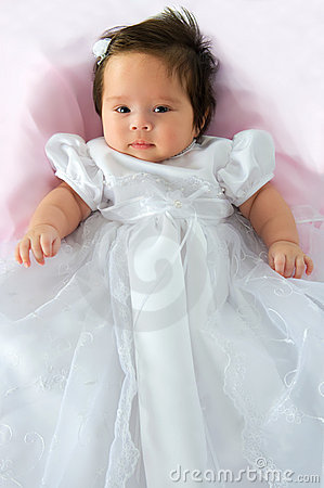 Free Baby Girl In Baptism Dress Stock Photos - 16492973