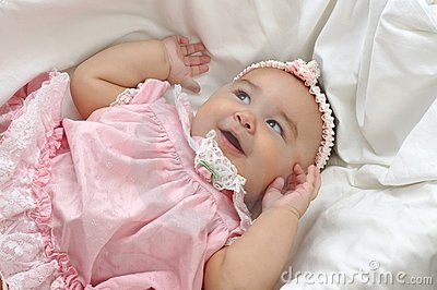 Baby Girl in Pink 6 months