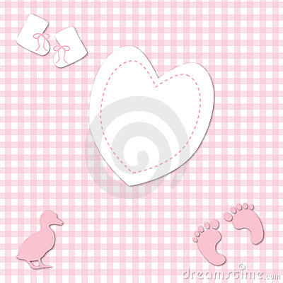 Baby Girl Pink Gingham background