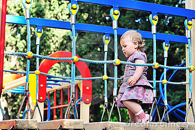 Baby girl on playground