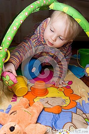 Baby girl playing