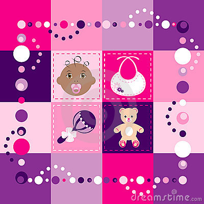 Free Baby Girl Quilt Royalty Free Stock Image - 13306526