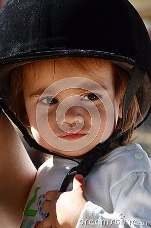 Free Baby Girl Rides Pony Horse Royalty Free Stock Photo - 22126945