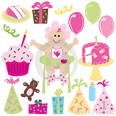 Free Baby Girl S First Birthday Party Stock Images - 8416774