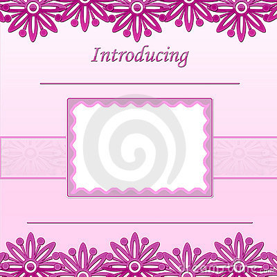 Baby Girl scrapbook page - Birth Announcement - 1