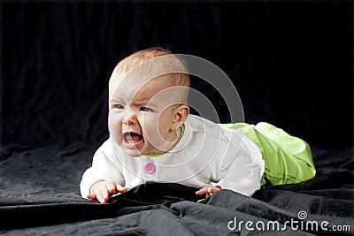 Baby girl screaming