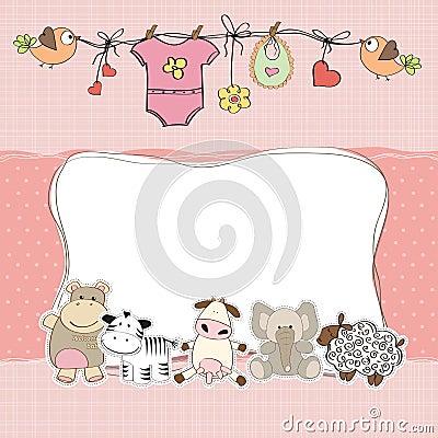 Free Baby Girl Shower Card Stock Photos - 26813163