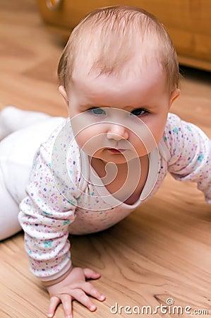 Baby girl stare