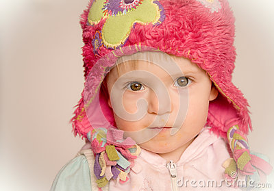 Baby girl staring