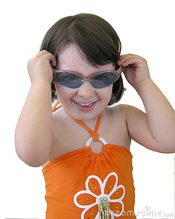 Baby girl with sunglasses