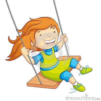 Free Baby Girl Swinging Royalty Free Stock Images - 26346579