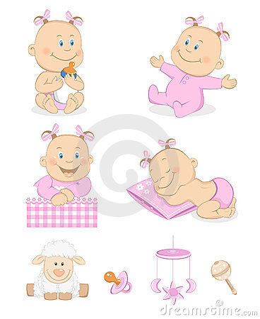 Baby Girl with Toys and Accessories