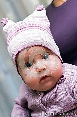 Baby girl in violet