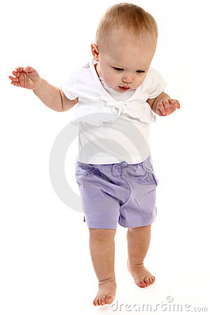 Free Baby Girl Walking Stock Image - 1941411