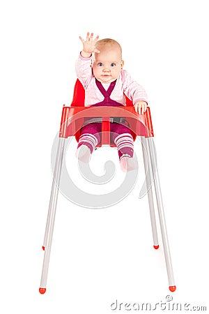 Baby Girl Waving