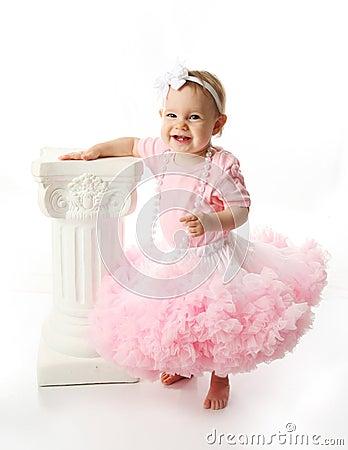 Baby girl wearing pettiskirt tutu