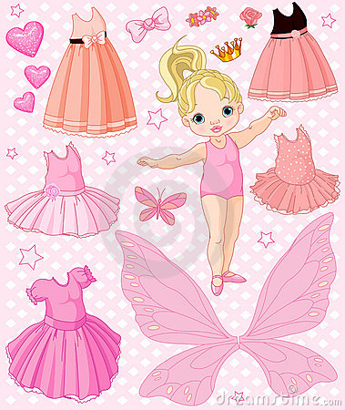 Free Baby Girl With Different Dresses Royalty Free Stock Photos - 19199318
