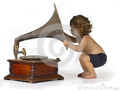 Baby and Gramophone