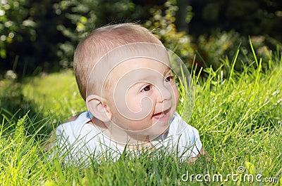 Baby on grass