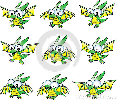 Baby green dragon emotions