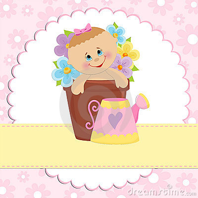 Free Baby Greetings Card Royalty Free Stock Photo - 14003705