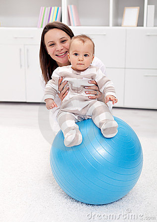 Baby gymnastic and fun
