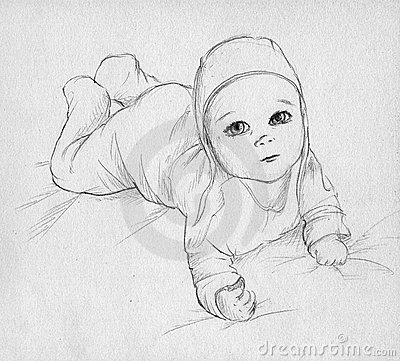 Baby - hand drawn sketch