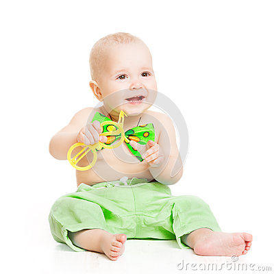 Free Baby Happy Smiling, Smal Kid Boy In Green Bow Tie Royalty Free Stock Photo - 38888385