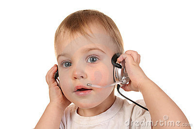 Baby with headphones 3