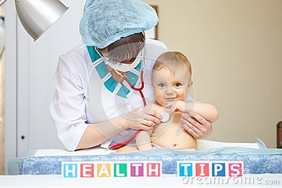 Baby healthcare and treatment. Health tips concept.