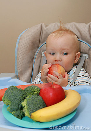 Baby and healthy food