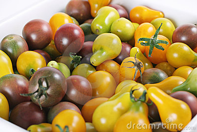 Baby heirloom tomatoes from the garden