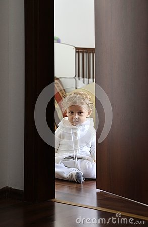 Baby in his room