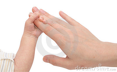Baby Holding Mothers hand