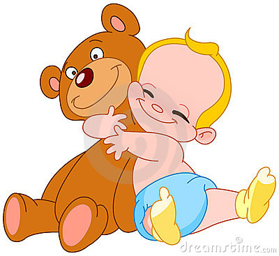 Free Baby Hug Bear Stock Images - 14574684