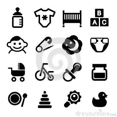 Free Baby Icon Set Stock Images - 37694244