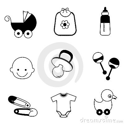 Free Baby Icons Royalty Free Stock Photo - 14556615