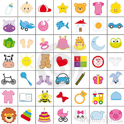 Free Baby Icons Royalty Free Stock Images - 17579929