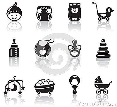 Free Baby Icons Royalty Free Stock Photos - 19022978