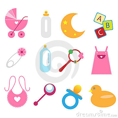 Free Baby Icons - Girl Stock Photo - 14060590