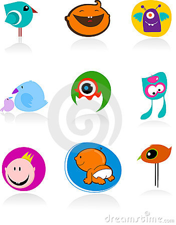 Baby icons and logos