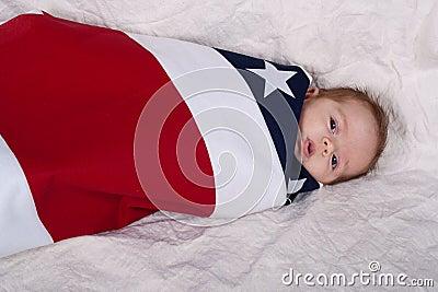 Baby iIn A Flag