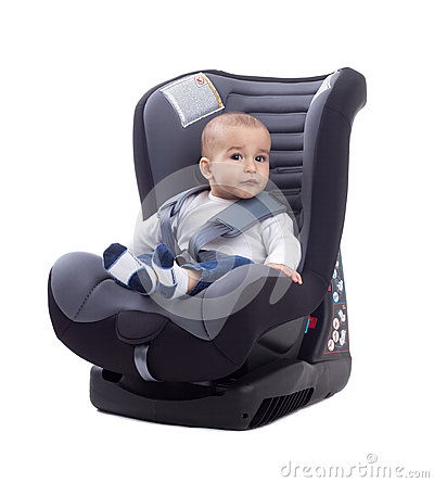 Free Baby In A Car Seat Stock Images - 53275574