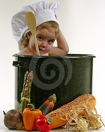 Free Baby In A Chef Pot Royalty Free Stock Photography - 343437