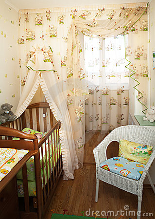 Free Baby In A Children S Bedroom Royalty Free Stock Image - 8863836